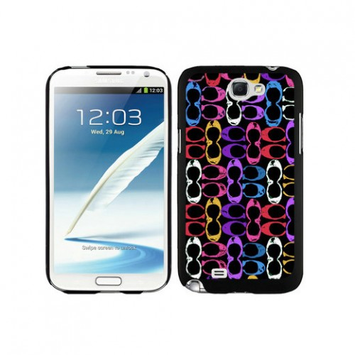 Coach Logo Monogram Multicolor Samsung Note 2 Cases DTB