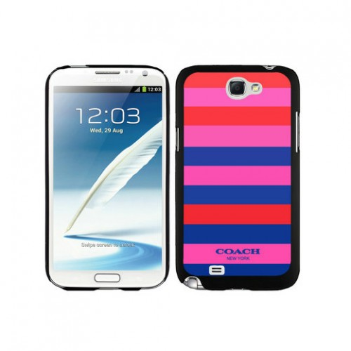 Coach Stripe Multicolor Samsung Note 2 Cases DTE