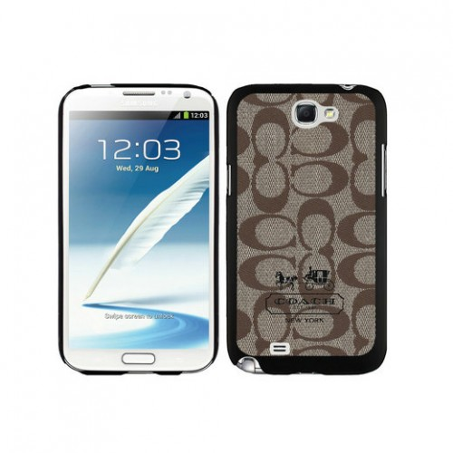 Coach In Signature Beige Samsung Note 2 Cases DTH