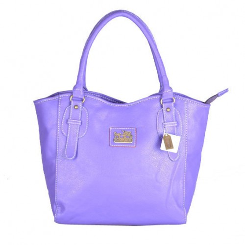 Coach North South Logo Medium Purple Satchels DWC