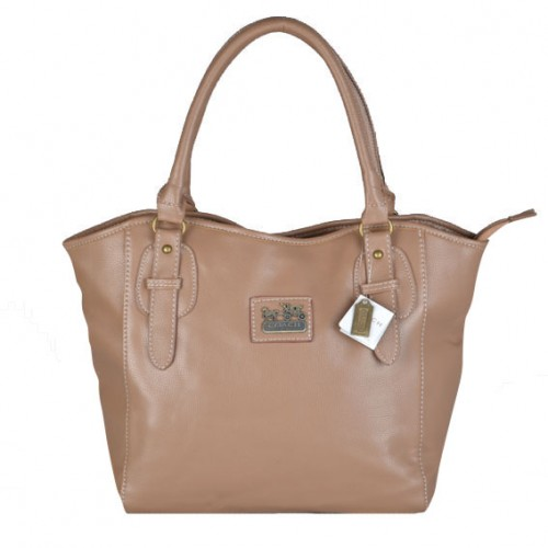 Coach North South Logo Medium Apricot Satchels DWE