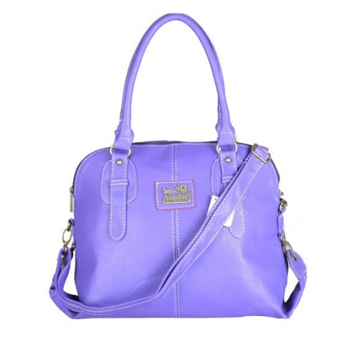 Coach Logo Charm Small Purple Satchels DWI