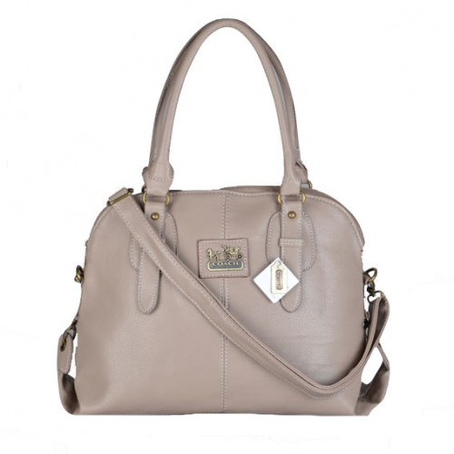 Coach Logo Charm Small Grey Satchels DWL