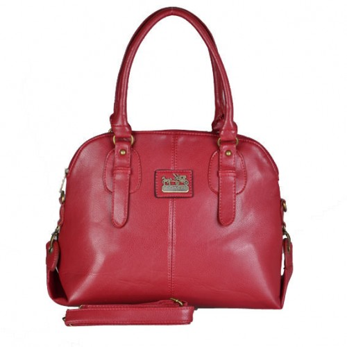 Coach Logo Charm Small Red Satchels DWM