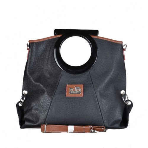 Coach Logo Medium Black Totes DWY