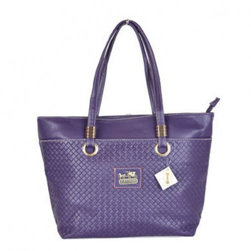 Coach Knitted Logo Medium Purple Totes DWZ
