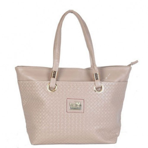 Coach Knitted Logo Medium Ivory Totes DXC