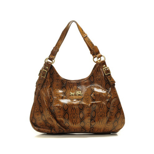 Coach Embossed Medium Brown Hobo DYD