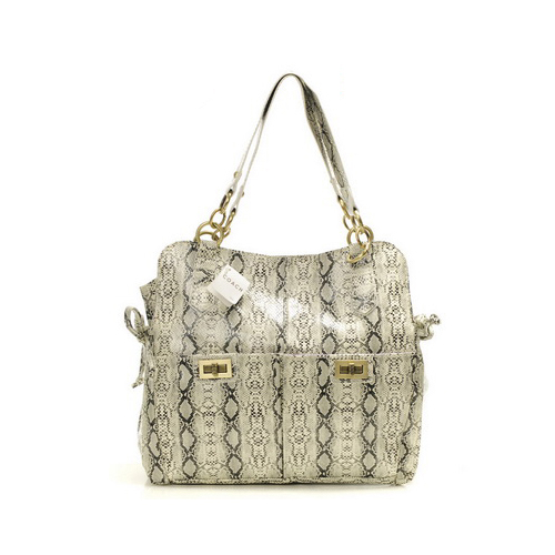 Coach Embossed Lock Medium White Totes DYK