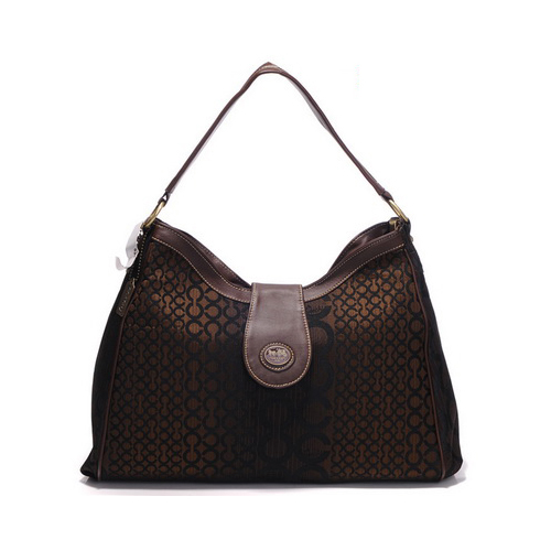 Coach Madison In Logo Large Coffee Shoulder Bags DYV