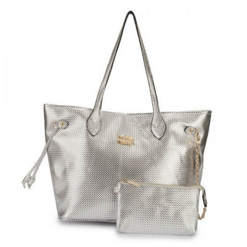 Coach City Knitted Medium Silver Totes DZO
