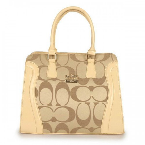 Coach Logo Signature Medium Apricot Satchels DZR