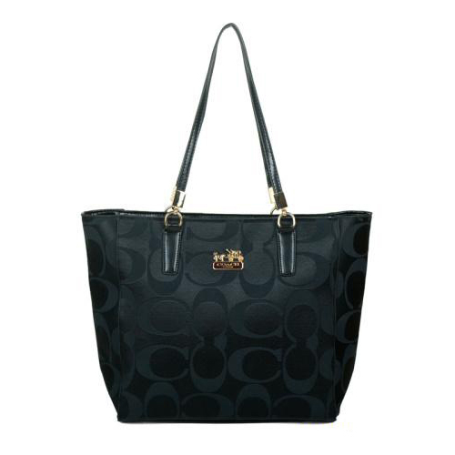 Coach Madison East West Small Black Totes EAI