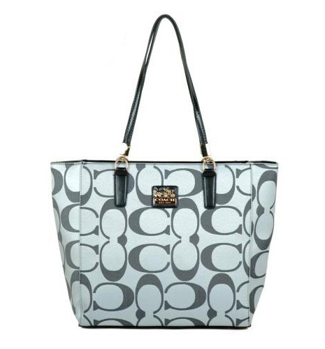 Coach Madison East West Small Grey Totes EAJ