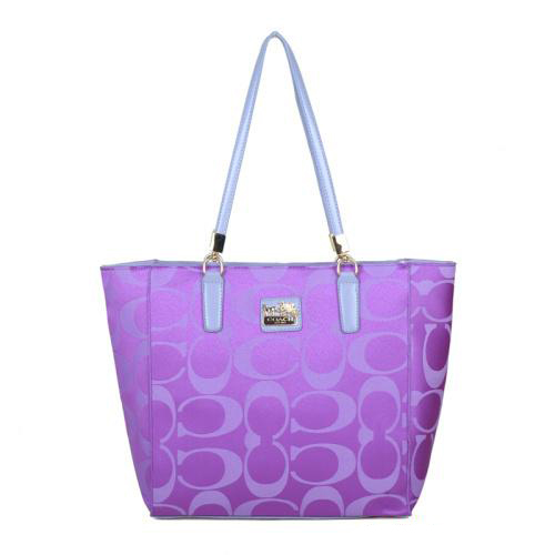 Coach Madison East West Small Purple Totes EAL