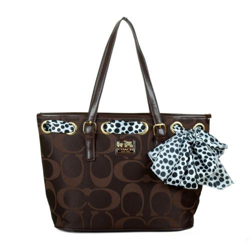 Coach Legacy Scarf Medium Coffee Totes EAM