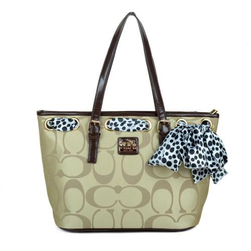 Coach Legacy Scarf Medium Apricot Totes EAP