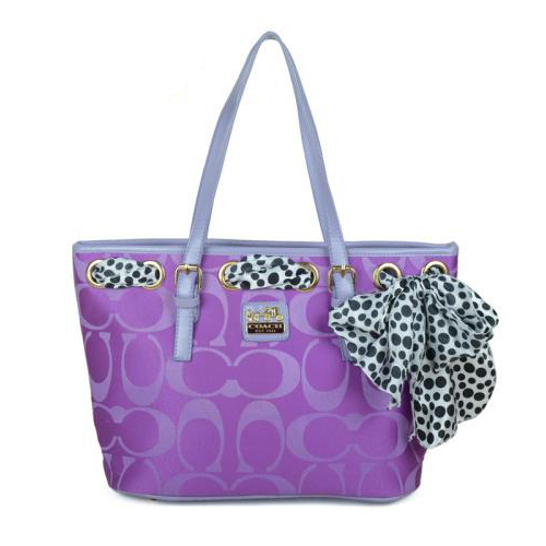Coach Legacy Scarf Medium Purple Totes EAQ
