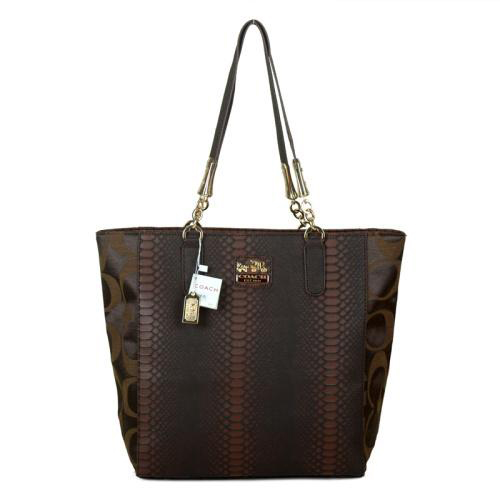 Coach Madison North South Bonded Small Coffee Totes EAW