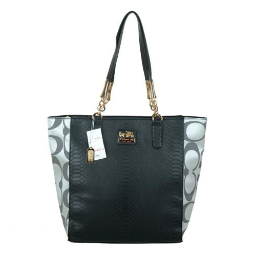 Coach Madison North South Bonded Small Grey Totes EAY